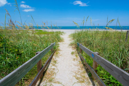 Beach access at Jackson Avenue in Cape Canaveral